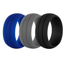 3pcs Silicone Wedding Rings Environmental Cool Comfortable Ring Band For Men