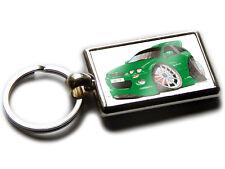 MG ZR Sports Car Koolart Chrome Keyring Picture Both Sides