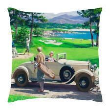 retro  vintage car scene cushion cover  new