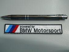 BMW STEMMA PATCH TOPPA RICAMATO powered by motorsport TERMOADESIVO cm 16,5 x 3