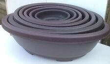 Brand New Plastic Oval Bonsai Pots - 7 SIZES - YOU CHOOSE