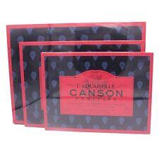 Canson Heritage L'Aquarelle watercolour paper block 140lb rough hot press CP