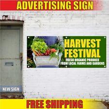 Harvest Festival Advertising Banner Vinyl Sign Flag autumn happy Fresh Produce