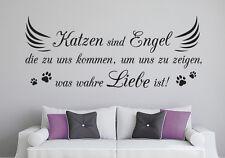 Katze Engel Liebe Zuhause Wandspruch Aufkleber Haustier Wandaufkleber WandTattoo