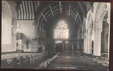 RP POSTCARD Chublrich Church Interior DAWLISH ENGLAND