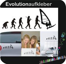 Surfen Windsurfen Surfbrett Evolution Wandaufkleber  Wandtattoo Aufkleber W402