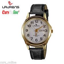 Orologio da Polso ORIGINALE Classico Unisex Laurens in Pelle con Datario