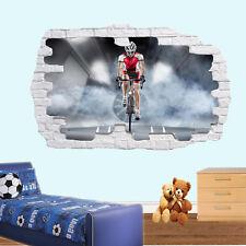 Carrera De Bicicleta Biker Pegatinas de Pared 3D Mural de Arte Decoración Hogar Oficina Sala De Cartel TZ9