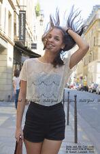 Lace Floral Sleeveless Crochet Vintage Women Vest Tank Top T Shirt Beach #008d