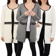 Pull Femmes Veste de survêtement cardigan tricotée Taille Unique D-337