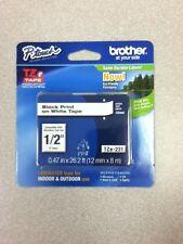"Genuine Brother TZe231 1/2"" Black on White laminated tape TZ OEM"