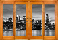 Stickers window trunk the eye deco New York Brooklyn ref 2555 ( 10 dimensions )