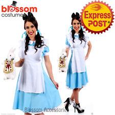 K1 Deluxe Ladies Alice in Wonderland Halloween Womens Fancy Dress Costume Outfit