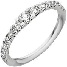Anillo 15 diamantes brillantes en la extensión 0,66 Qt. 585 oro BLANCO de