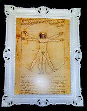 QUADRO INCORNICIATO Leonardo Da Vinci IMMAGINE 70X90 decorativa UOMO LETTERATURA