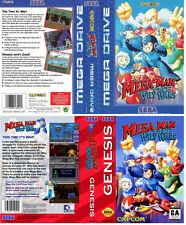 Mega Man The Wily  Wars Sega Megadrive Replacement Box Art Sleeves Insert Case