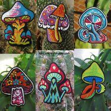 AUFNÄHER PATCH goa psy hippie elfen Pilz mushrooms om 1