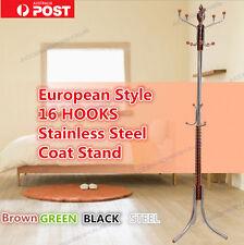 European Style 16 Hooks Hat Coat Clothing Dress Bag Metal Rack Stand Hanger
