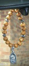 In Car Wooden Beads & Saint St Charbel Pendant Sharbel Makhluf Holy Charm