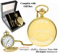 Usher Wedding Personalised Pocket Watch Gold Plated