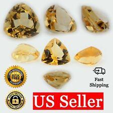 Loose Trillion Cut Genuine Natural Citrine Stone Single Yellow Birthstone Shape