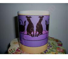 Greyhounds on Sofa Mug, Greyhound Whippet Lurcher mugs % to Greyhound Charity