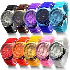 Silikon Analog Damen Unisex Armbanduhr Uhr Sportuhr Quarz
