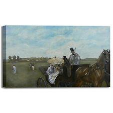 Degas carrozza alle corse design quadro stampa tela dipinto telaio arredo casa