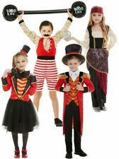 Kids Ringmaster Strongman Costume Showman Circus Boy Girl Fancy Dress Outfit