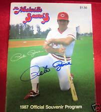 Pete Rose signed photo-1987 Program
