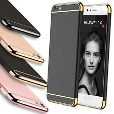 Huawei P10 Lite Hybrid Cover Hülle Hardcase Handyhülle Tasche Gold Case Bumper
