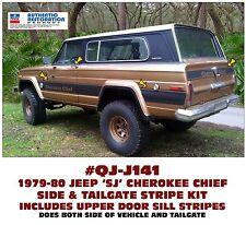 SP QJ-J141 1979-80 JEEP CHEROKEE CHIEF - SJ - SIDE & TAILGATE STRIPE - LICENSED