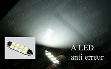 1 Ampoule navette C5W 42 mm 42mm 8 LED SMD Blanc Résistance anti erreur ODB