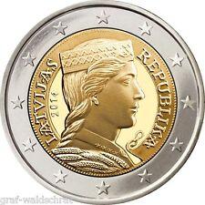 2 Euro LETTLAND ab 2014 alle Jahre - unc - frei wählbar
