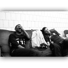 58152 Kendrick Lamar and J Cole Custom Rap Music Star FRAMED CANVAS PRINT UK