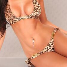 SEXY NECKHOLDER BIKINI BEACHWEAR LEOPARD-LOOK LEO-BRAUN #BI308