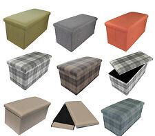 Stool Stool Storage Box Cube Stool Upholstery Fabric Bench Foldable