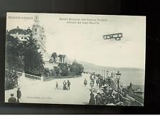 1910 Monte Carlo Monaco RPPC Flight BiPlane Cover Postcard