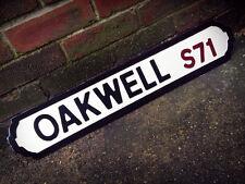 Barnsley Oakwell Football Ground Vintage Street Sign Wood Road Sign