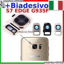Lente Fotocamera Samsung GALAXY S7 EDGE G935 G935F Vetrino Cornice + BIADESIVO