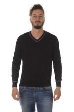 Maglia Maglietta Armani Jeans Sweater Pullover -35% Uomo Nero A6W05KD-12