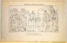 Stampa antica Old Print NAPOLEONE BONAPARTE a TILSTIT Sovetsk Russia 1822