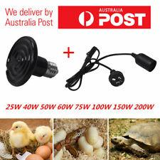 Infrared Ceramic Emitter Heat Light Lamp Bulb For Reptile Pet Brooder w/ Holder