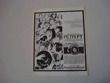 advertising Pubblicità 1968 PETRI FT