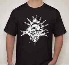 MOB 47 mohawk skull Punk rock hardcore thrash band T shirt
