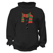 Snowman Scarf - UGLY CHRISTMAS Sweater Elf Santa Xmas Men Women HOODIE Black