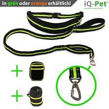Joggingleine von iQ-Pet® | 2,4 m lange Premium Laufleine + Laufgürtel +2 Taschen
