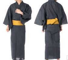 Japanisch Herren Traditionell Yukata Sommer Kimono Jacke Japan C-1 Schwarz