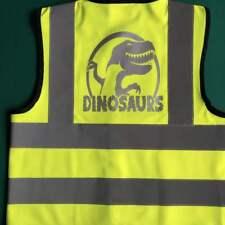 Hi Vis Vest Dinosaurs Kids Childrens