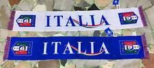 1 SCIARPA NAZIONALE ITALIA FIGC  AZZURRI JACQUARD BIANCA BAFANDA SCARF UFFICIALE